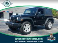 This 2011 Jeep Wrangler Sport in Black ClearCoat