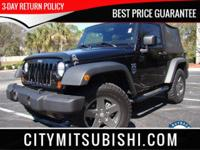 CARFAX CERTIFIED. JEEP RUBICON CONVERTIBLE WITH