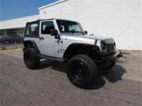 LIFTED JEEP WRANGLER WITH CUSTOM BLACK WHEELS!, ROUGH
