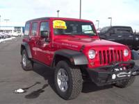 3.8L V6 SMPI, 4-Speed Automatic VLP, and 4WD. Red Hot!