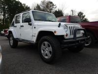White 2011 Jeep Wrangler Unlimited Sahara 4WD 6-Speed