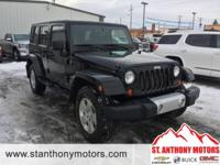 This Jeep Wrangler Unlimited has a 3.8 liter V6