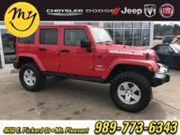 Options:  2011 Jeep Wrangler Unlimited Sahara|Red|New