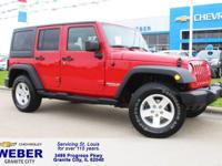 New Price! Recent Arrival! Red Jeep Wrangler **4 WHEEL