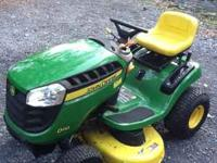 "19.5 hp 42"" deck Barely used riding mower. Has less"