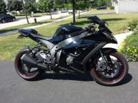 2011 Black ZX10R Superbike. Bike is clean and in