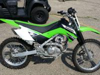 As always the standard KLX with 17 inch front and 14