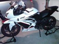 Up for sale is my gently used White Ninja 250R special