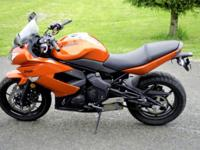 2011 Kawasaki Ninja 650r 215 Miles Burnt Orange Comes