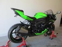 Kawasaki ZX-6R with only 1600 miles. It is in excellent