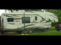 This is a 2011 Keystone Cougar 27RKS, it is 27FT in