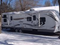 36 foot travel trailer bunkhouse with 2 cub couches and