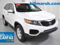 Sorento LX, FWD, White, Air Conditioning, CARFAX 1