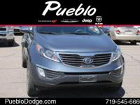 CARFAX 1 OWNER. Sportage EX, 6-Speed Automatic, and