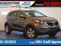 New Price! Sand Track 2011 Kia Sportage LX FWD 6-Speed