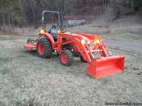 2011 Kubota L3800 HST w/ 524 front end loader, trailer