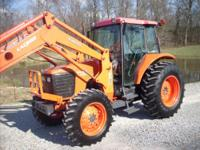 UP FOR SALE IS A NICE - 1 OWNER 2011 KUBOTA M95S.  CAB+