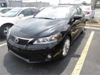 2011 Lexus CT200H, Obsidian with Black Interior, Alloy