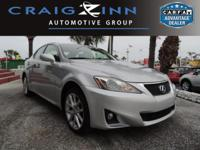 New Arrival! LOW MILES, This 2011 Lexus IS 250 4DR SPT