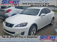 White 2011 Lexus IS 250 AWD 6-Speed Automatic