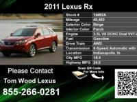 Call Tom Wood Lexus at  Stock #: 14492A Year: 2011