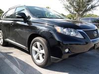 Clean CARFAX. Black 2011 Lexus RX 350 AWD 6-Speed