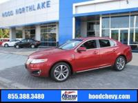 CARFAX 1-Owner, GREAT MILES 14,680! MKS trim, RED CANDY