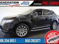 AWD, Tuxedo Black Metallic, and 2011 Lincoln MKX. GPS