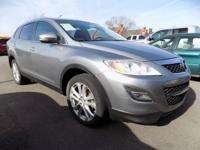 Clean CARFAX. Liquid Silver Metallic 2011 Mazda CX-9
