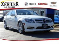 Arctic White 2011 Mercedes-Benz C-Class C 300 **LEATHER