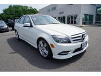 2011 Mercedes-Benz C-Class C300 White   Odometer is