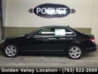 This 1 owner off lease Black C 300 Luxury 4 Matic has a