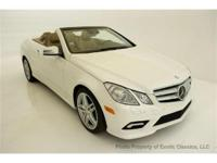 2011 MERCEDES BENZ E 550 CABRIOLET EXOTIC CLASSICS IS
