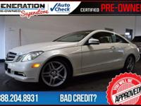 2D Coupe, White, and 2011 Mercedes-Benz E-Class.