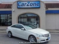 2011 MERCEDES E350 COUPE - Arctic White with Black