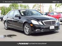 This black on black E350 Bluetec is nicely geared up