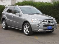 2011 ML550 V8 sport utility in Palladium Silver with