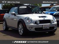 This 2011 MINI Cooper 2dr S Convertible features a 1.6L