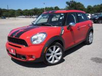 Red 2011 MINI Cooper S Countryman FWD 6-Speed Automatic