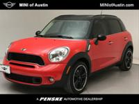 Clean CARFAX. Red 2011 MINI Cooper S Countryman FWD
