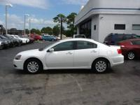 White in color. This 2011 Mitsubishi Galant FE has full