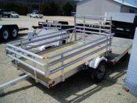 "Brand New 2011 5x8 Aluminum Utility Trailer 81"" Wide"