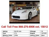 2011 Nissan 370Z Base 2dr Coupe Coupe 2 Doors White RWD