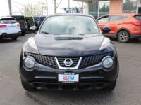 Nissan Juke Black AWD. 30/25 Highway/City MPG Locally