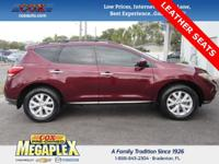 This 2011 Nissan Murano SV in Merlot Metallic is well