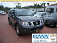 Options:  2011 Nissan Pathfinder Grey|Great Mpg: 22 Mpg