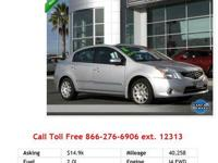 2011 Nissan Sentra 2.0 I4 2.0L Gas FWD Cloth. There's