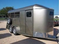 New 3 Horse Slant Trailer by Open Range Trailers. Mid