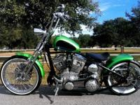 2011 CUSTOM BOBBER W/ GREEN METAL FLAKE PAINT113CI