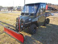 2011 Polaris Ranger 800 6x6 w/ Cab and Plow. It only
